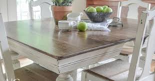 Antique Dining Table Updated With Chalk Paint Anderson Grant Mesmerizing Paint Dining Room Table Property