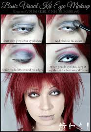 simple visual kei eye makeup tutorial by necrosarium