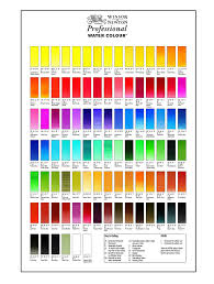 Winsor Newton Watercolor Transparency Chart Best Picture