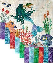 Mermaid Kisses Designer Pattern: Robert Kaufman Fabric Company &  Adamdwight.com