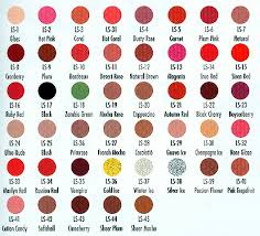Ben Nye Color Chart Ben Nyes Lip Colors