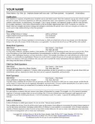 Resume For Nanny 1 Full Time Nanny Resume Sample Uxhandy Com