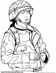 Army Color Pages Free Printable Colouring Military Soldier Coloring