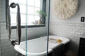 clawfoot tub bathroom ideas. Sleek And Tidy Clawfoot Tub Bathroom Ideas : Cool With Glass Stall D