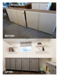 Shaker Style Door Casing Salvaged Kitchen Cabinets With Flat Panel
