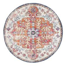 round rugs temple webster bone white and art moderne louvre rug only circular carpet black target