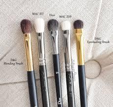 mac 217 mac 239 dior 21 d g makeup brushes