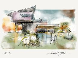 modern architecture drawing. Perfect Architecture Architecture Sketch Wallpaper 1000 Images About Sketching Techniques On  Pinterest Perspective And Sketchbooks U To Modern Drawing