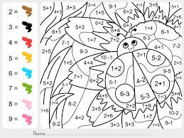 Paint Color By Numbers - Addition And Subtraction Worksheet For ...