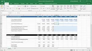 Creating Income Statement Assumptions Online Financial Modeling Training