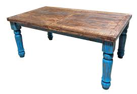 I am using the indian summer color of amy howard's chalk paint. 03 2 79 6 2 Turquoise Scrape Rustic Dining Room Set Million Dollar Rustic Free Delivery