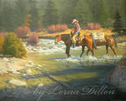 Western art - cowboys, horses, cattle ranches, vaqueros, and the Western  landscape by Lorna Dillon-Oil Paintings and Prints