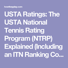 Usta Ratings Chart Usta Ratings The Usta National Tennis Rating Program Ntrp
