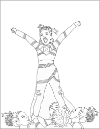 Small Picture Cheerleading Coloring Pages 1 olegandreevme
