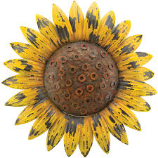 on sunflower wall art metal with 18 25 rustic sunflower wall decor