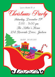 Class Party Invitation Diy Printable Christmas Party Invitation Santas Sleigh Ornament