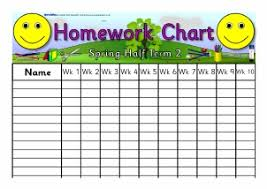 Chart Records Homework Records And Record Keeping Sparklebox
