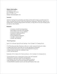 Waitress Resume Example Fascinating Catering Server Responsibilities Resume Template Restaurant Sample