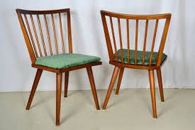 pair conant ball spindle chairs mid century modern dining by offcentermodern on etsy