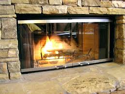 gas fireplace glass doors fireplace doors open or closed for gas fireplaces with blower smart image
