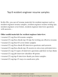 Resident Engineer Sample Resume top10000residentengineerresumesamples1006310000jpgcb=1004210000394563 2