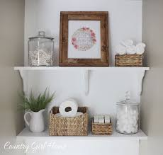 Bathroom Shelf Country Girl Home Bathroom Shelves