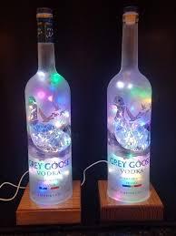 Liter Bottle Lights Grey Goose Lamp Bottle Crafts Grey Goose Bottle