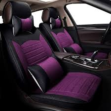 kokololee flax car seat cover set for vw hyundai ix25 toyota rav4 auto interior accessories luxury design leather seat protector