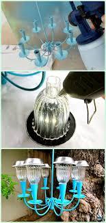 diy recycled solar light hanging chandelier tutorial diy solar inspired solar light lighting ideas