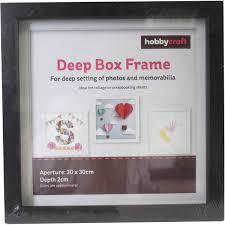 Box Picture Frame Black Deep Box Frame 30cm X 30cm