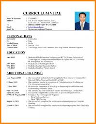 How To Write A Professional Cv Curriculum Vitae Examples