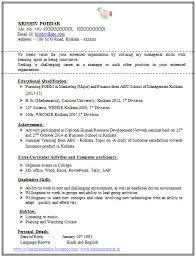 Beautiful Resume Format For Bba Pictures - Simple resume Office .