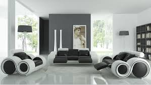 living room sofa furniture with recliner modern leather