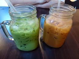 Image result for Thai green milk tea images