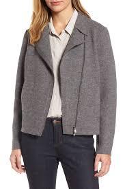 eileen fisherboiled wool moto jacket