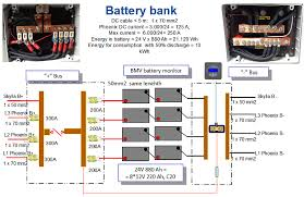 motor yacht matsko quiet inexpensive energy victron energy figure 5 details of battery bank and fuse boxes