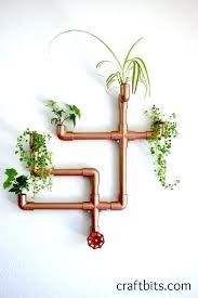 diy wall planters copper wall planter diy wall hanging plant holder