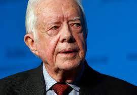 Oud-president Amerika Jimmy Carter ...