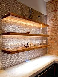copper penny tile backsplash creative kitchen ideas penny tile copper penny  penny tiles add glamorous shimmer