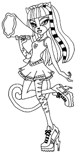 Printable Monster High Meowlody Coloring Pages