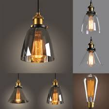 New modern lighting Lighting Fixtures Image Is Loading Newmodernvintageindustrialretroloftglassceiling Ebay New Modern Vintage Industrial Retro Loft Glass Ceiling Lamp Shade