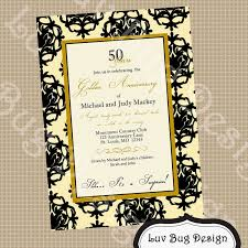 free 50th wedding anniversary invitations