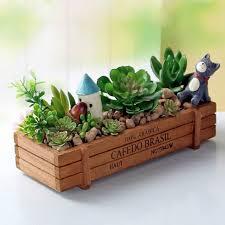 desk garden. Simple Garden Retro Wooden Multifunctional Storage Desk Box Flower Bed Plant Pot  Pots Planters Organizer Garden And 3