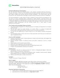 Investment Banking Resume Template Investment Banking Resume Format ...
