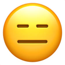 Sometimes it is mentioned as the blank face emoji. Expressionless Face