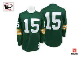 Ness Authentic Packers Jersey Men's Home Throwback Bart Nfl And Green Bay Mitchell 15 Starr