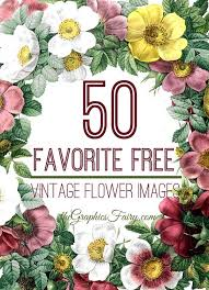 Click the flower pattern coloring pages to view printable version or color it online (compatible with ipad and android tablets). 50 Favorite Free Vintage Flower Images The Graphics Fairy