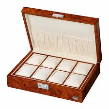 eight low ten sura garfish wooden watch box watch storage cases packable extensive design dark brown grain of