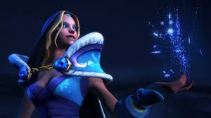 frozen let it go with crystal maiden a dota2 frozen cinematic