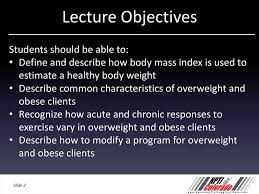 Training Overweight And Obese Clients Based On Nasm Cpt